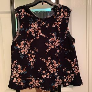 Banana Republic floral sleeveless dress blouse.